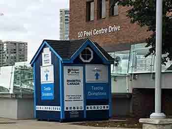 Diabetes Canada textile shed at 10 Peel Centre Drive